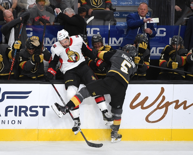 Ottawa Senators vs. Vegas Golden Knights - 1/16/20 NHL Pick, Odds, and Prediction