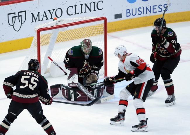 Ottawa Senators vs. Arizona Coyotes - 2/13/20 NHL Pick, Odds & Prediction