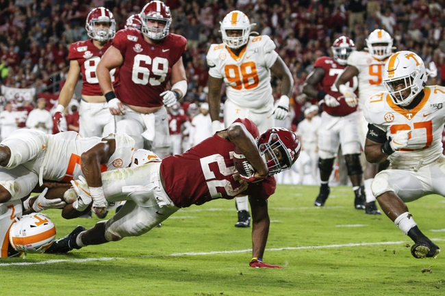 Alabama at Tennessee - 10/24/20 Early look College Football GOY Picks and Predictions