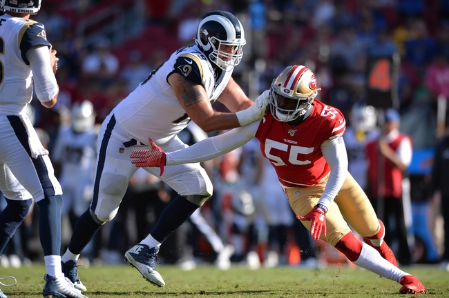 Los Angeles Rams at San Francisco 49ers - 12/21/19 NFL Pick, Odds, and Prediction