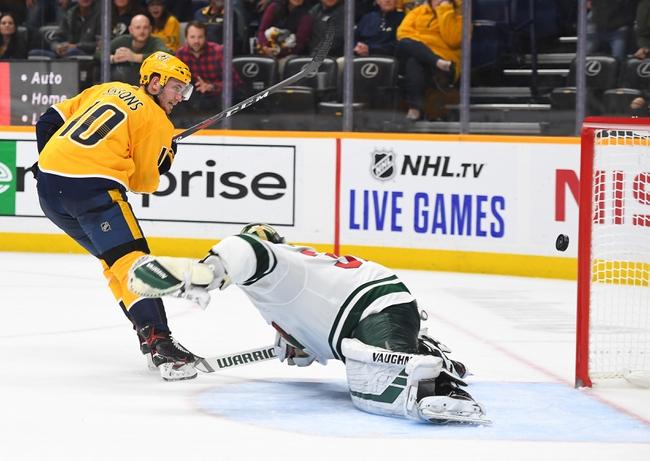 Minnesota Wild vs. Nashville Predators - 3/3/20 NHL Pick, Odds, and Prediction