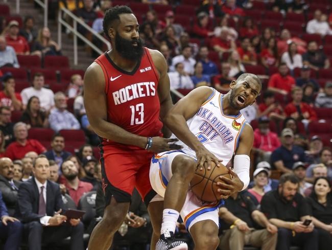 Oklahoma City Thunder vs. Houston Rockets - 1/9/20 NBA ... Rockets Vs Thunder