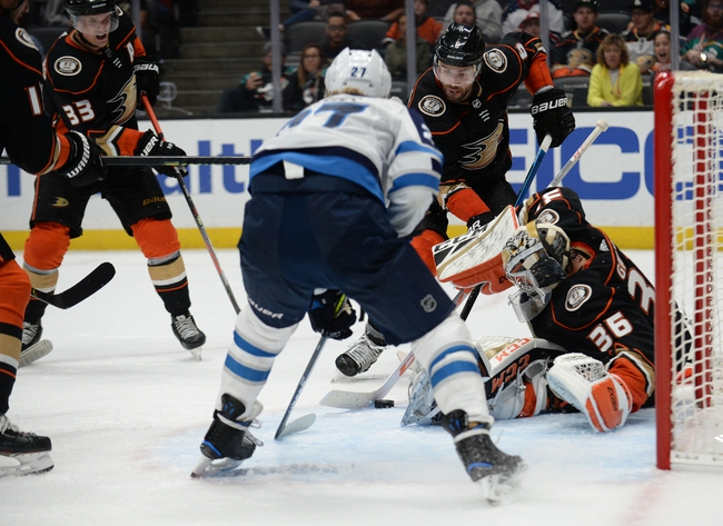 Anaheim Ducks vs. Winnipeg Jets - 11/29/19 NHL Pick, Odds, and Prediction