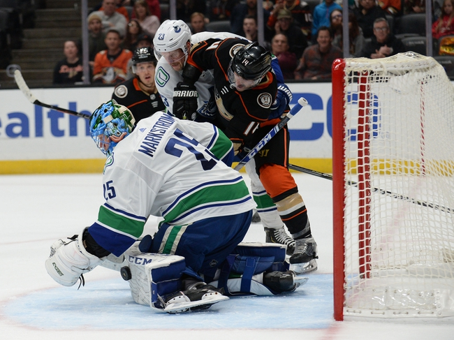 Vancouver Canucks vs. Anaheim Ducks - 2/16/20 NHL Pick, Odds & Prediction