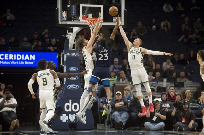 Milwaukee Bucks vs. Minnesota Timberwolves - 1/1/20 NBA Pick, Odds & Prediction
