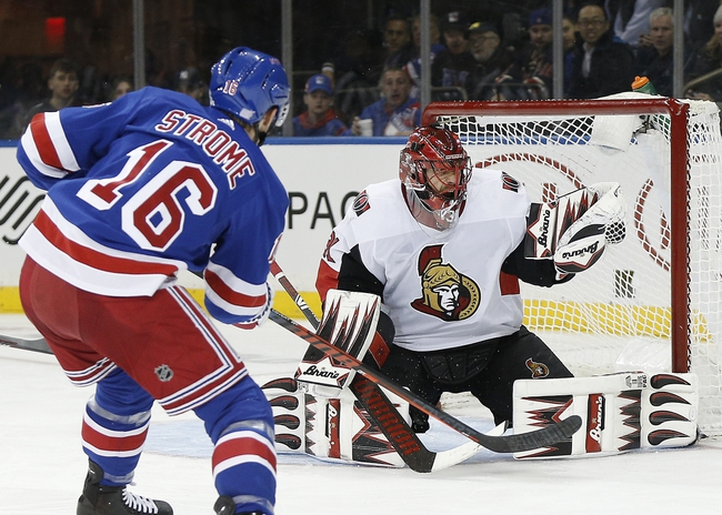Ottawa Senators vs. New York Rangers - 11/22/19 NHL Pick, Odds, and Prediction