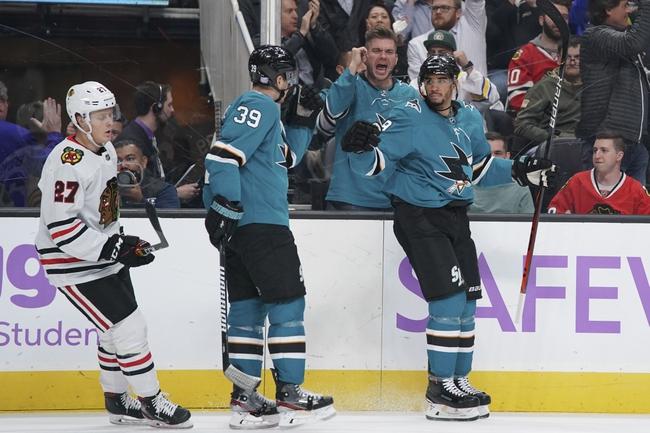 San Jose Sharks at Chicago Blackhawks - 3/11/20 NHL Picks and Prediction