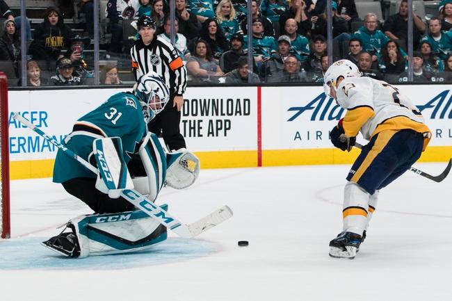 Nashville Predators vs. San Jose Sharks - 12/10/19 NHL Pick, Odds, and Prediction