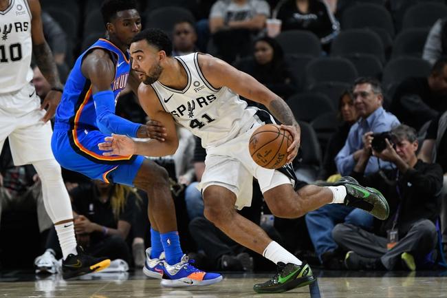 San Antonio Spurs vs. Oklahoma City Thunder - 1/2/20 NBA Pick, Odds, and Prediction
