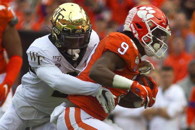 Wake Forest vs. Clemson - 9/12/20 College Football Pick, Odds, and Prediction