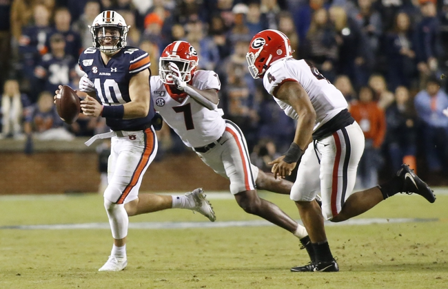 Auburn vs. Georgia - 10/10/20 Early Look College Football GOY Pick, Odds, and Prediction