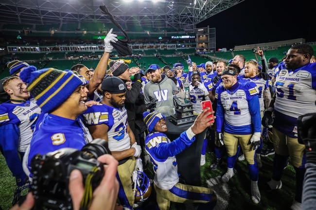Winnipeg Blue Bombers vs. Hamilton Tiger-Cats - 11/24/19 CFL Pick, Odds, and Prediction