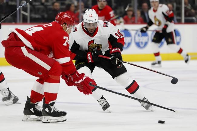Detroit Red Wings vs. Ottawa Senators - 1/10/20 NHL Pick, Odds, and Prediction