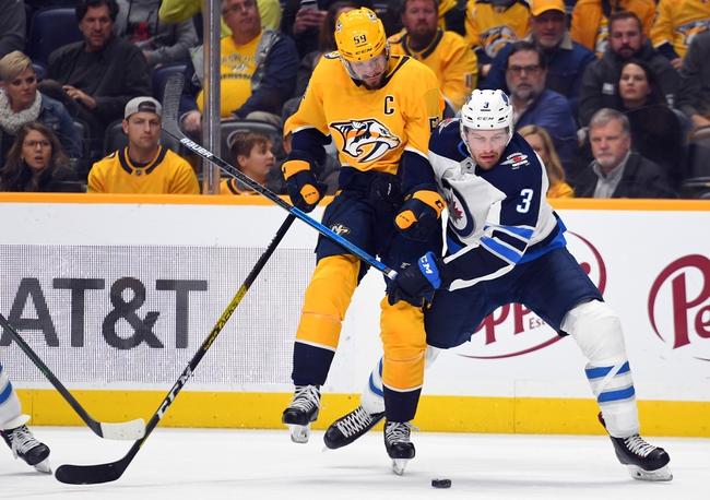 Winnipeg Jets vs. Nashville Predators - 1/12/20 NHL Pick, Odds, and Prediction