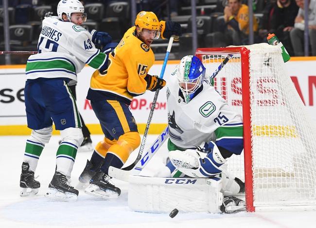 Vancouver Canucks vs. Nashville Predators - 2/10/20 NHL Pick, Odds, and Prediction