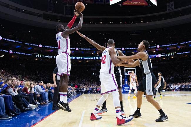 San Antonio Spurs at Philadelphia 76ers - 8/3/20 NBA Picks and Prediction