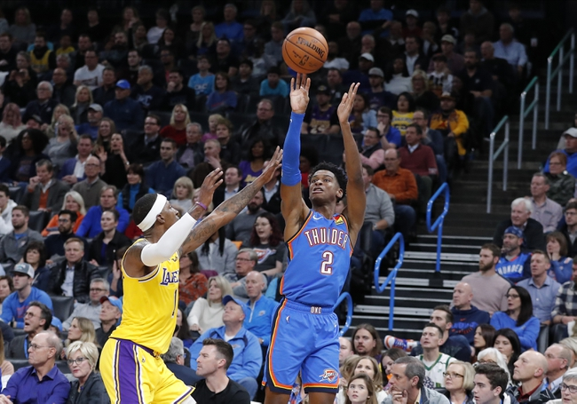 Oklahoma City Thunder vs. Los Angeles Lakers - 1/11/20 College Basketball Pick, Odds & Prediction