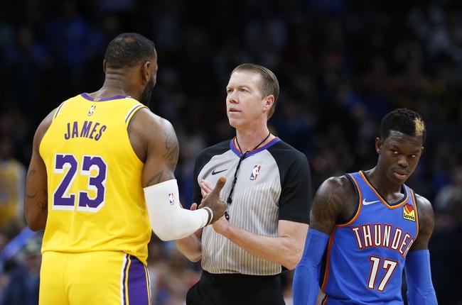 Los Angeles Lakers vs. Oklahoma City Thunder - 8/5/20 NBA Pick, Odds, and Prediction