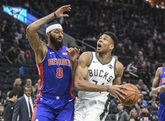 Detroit Pistons vs. Milwaukee Bucks - 12/4/19 NBA Pick, Odds, and Prediction