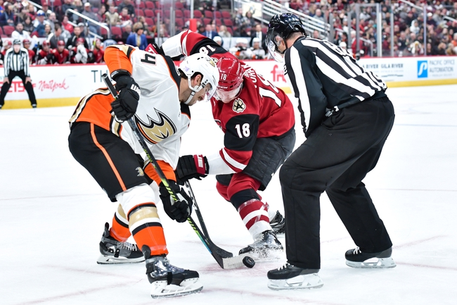 Arizona Coyotes vs. Anaheim Ducks - 1/2/20 NHL Pick, Odds & Prediction