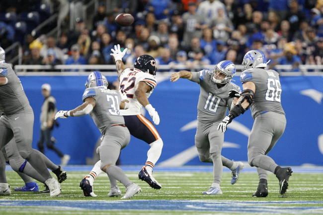 Chicago Bears at Detroit Lions - 9/13/20 NFL Picks and Prediction