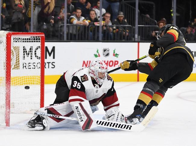 Vegas Golden Knights vs. Arizona Coyotes - 12/28/19 NHL Pick, Odds, and Prediction