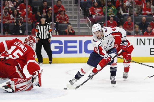 Detroit Red Wings at Washington Capitals - 3/12/20 NHL Picks and Prediction