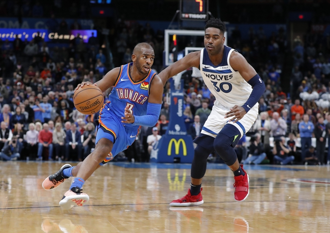 Minnesota Timberwolves vs. Oklahoma City Thunder - 1/13/20 NBA Pick, Odds & Prediction