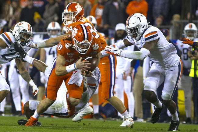 Virginia vs. Clemson - 9/26/20 Early Look College Football GOY Pick, Odds, and Prediction