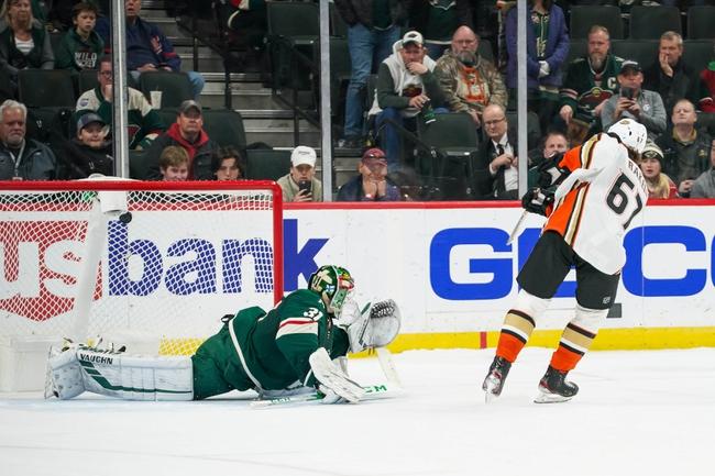 Anaheim Ducks vs. Minnesota Wild - 3/8/20 NHL Pick, Odds, and Prediction