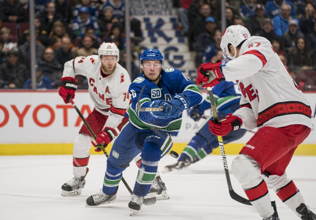 Carolina Hurricanes vs. Vancouver Canucks - 2/2/20 NHL Pick, Odds & Prediction