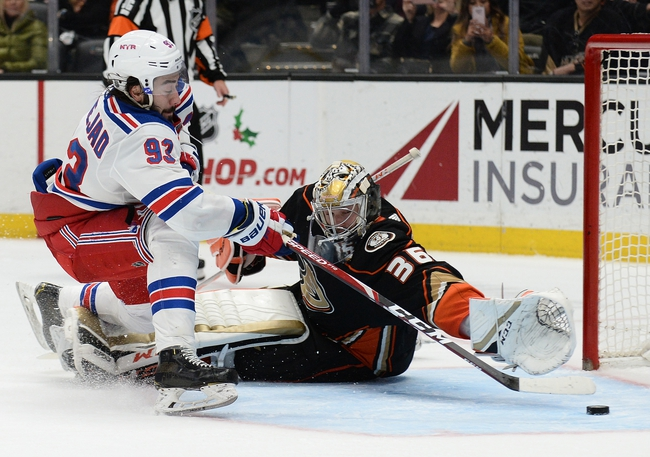 New York Rangers vs. Anaheim Ducks - 12/22/19 NHL Pick, Odds, and Prediction