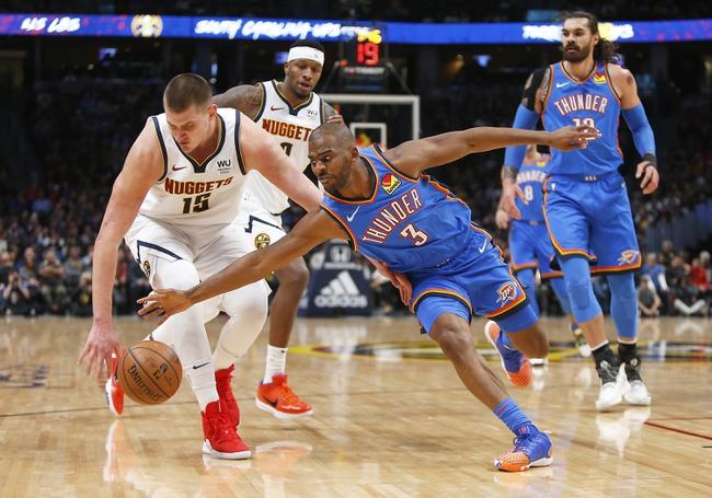 Oklahoma City Thunder vs. Denver Nuggets - 2/21/20 NBA Pick, Odds, and Prediction