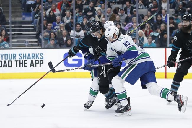 Vancouver Canucks vs. San Jose Sharks - 1/18/20 NHL Pick, Odds, and Prediction