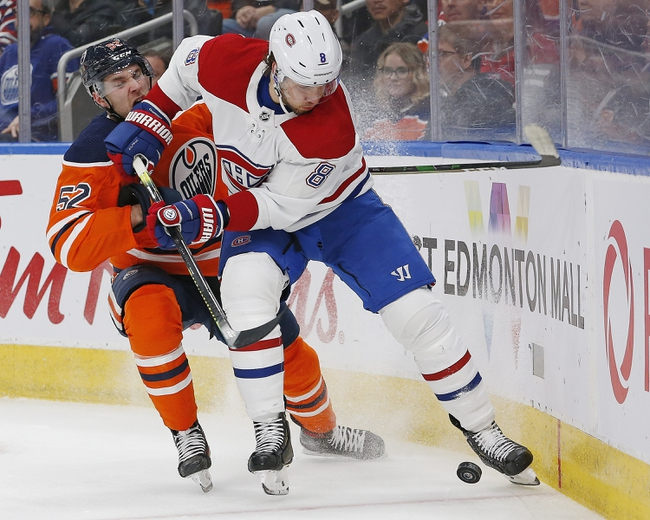 Montreal Canadiens vs. Edmonton Oilers - 1/9/20 NHL Pick, Odds & Prediction