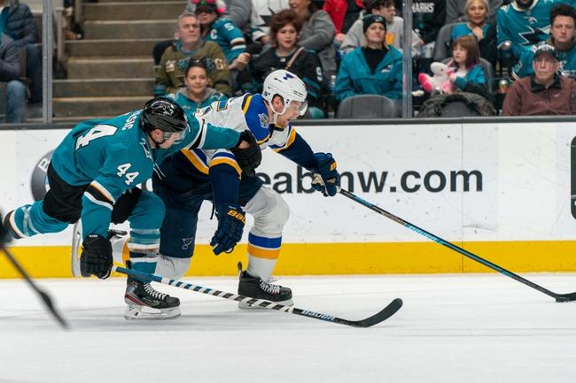 St. Louis Blues vs. San Jose Sharks - 1/7/20 NHL Pick, Odds, and Prediction