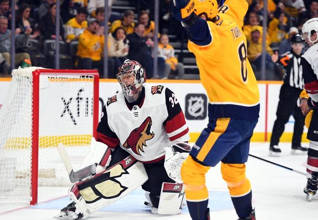 Nashville Predators at Arizona Coyotes - 8/7/20 NHL Picks and Prediction