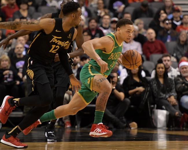 Boston Celtics vs. Toronto Raptors - 12/28/19 NBA Pick, Odds & Prediction