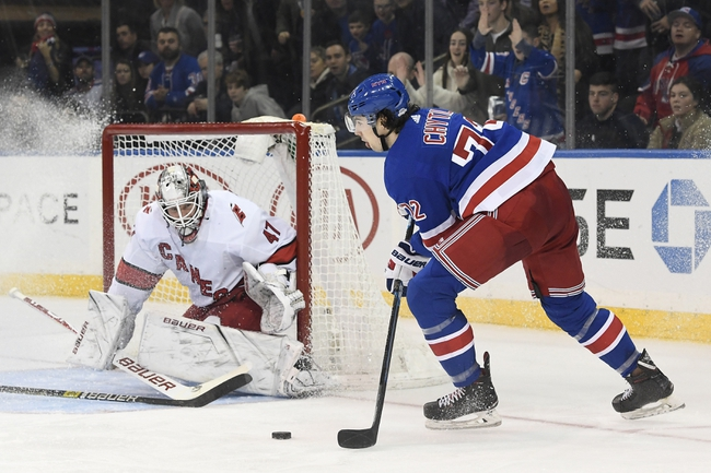 Carolina Hurricanes vs. New York Rangers - 2/21/20 NHL Pick, Odds, and Prediction