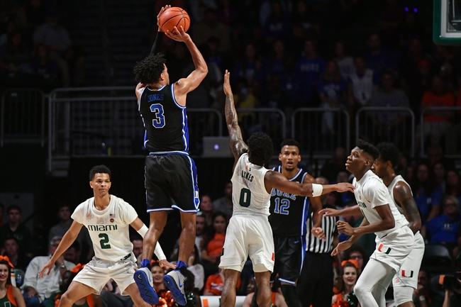 Duke vs. Miami - 1/21/20 College Basketball Pick, Odds, and Prediction