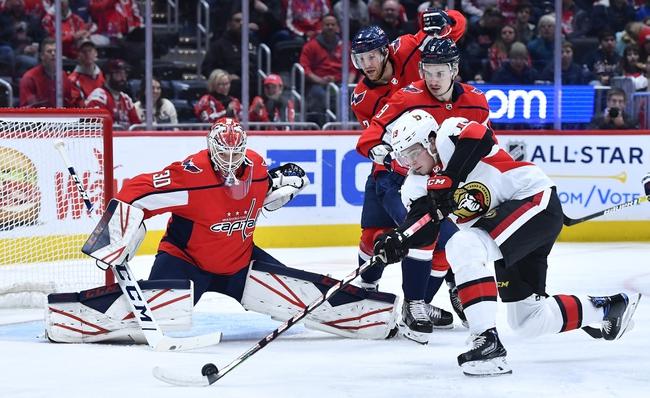 Ottawa Senators vs. Washington Capitals - 1/31/20 NHL Pick, Odds, and Prediction