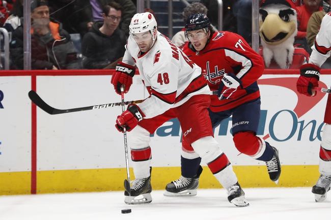 Washington Capitals at Carolina Hurricanes - 7/29/20 NHL Pick and Prediction