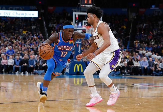 Oklahoma City Thunder at Los Angeles Lakers - 8/5/20 NBA Picks and Prediction