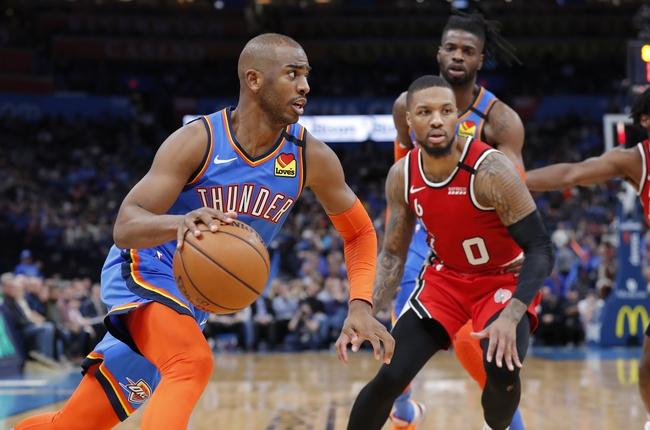 Portland Trail Blazers vs. Oklahoma City Thunder - 7/28/20 NBA Pick, Odds, and Prediction