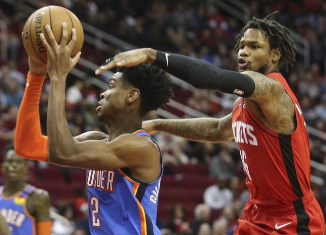 Oklahoma City Thunder at Houston Rockets - 8/18/20 NBA Picks and Prediction