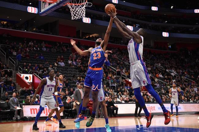 Detroit Pistons vs. New York Knicks NBA Picks, Odds, Predictions 12/11/20