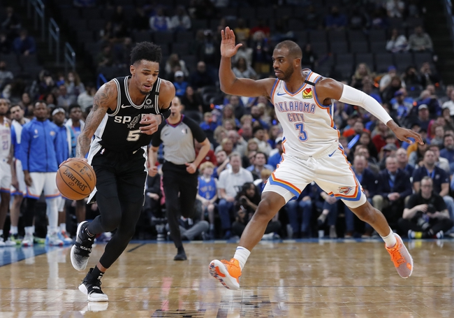 Oklahoma City Thunder vs. San Antonio Spurs - 2/23/20 NBA Pick, Odds, and Prediction