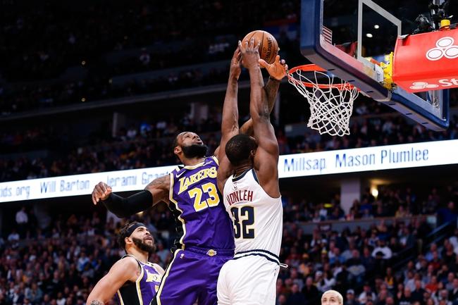 Denver Nuggets at Los Angeles Lakers - 8/10/20 NBA Picks and Prediction
