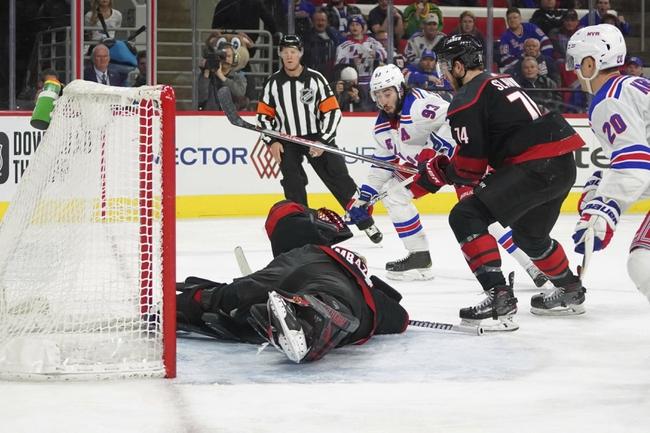 New York Rangers at Carolina Hurricanes - 8/3/20 NHL Picks and Prediction