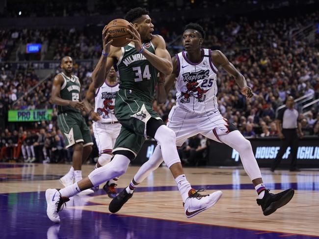 Toronto Raptors at Milwaukee Bucks - 8/10/20 NBA Picks and Prediction